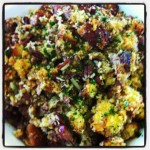 Chicken Apple Sausage and Cornbread Stuffing